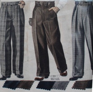 1950s Men's Trousers