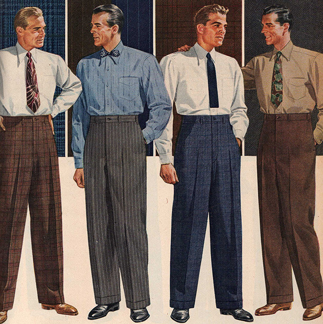 1950s Workplace Attire Men