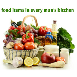 food items in every man's kitchen