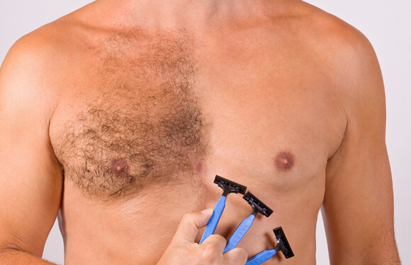 Body unwanted hair removal techniques for men