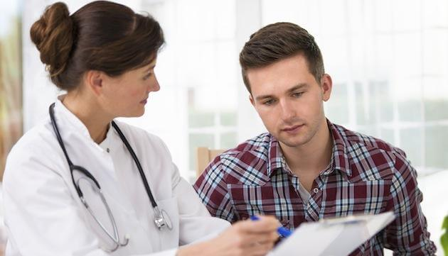 Five most common cancers in men