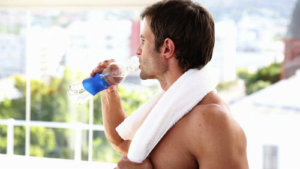 How to treat men with dehydrated body?