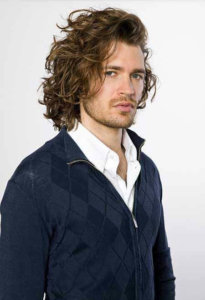 Long curly hairstyle