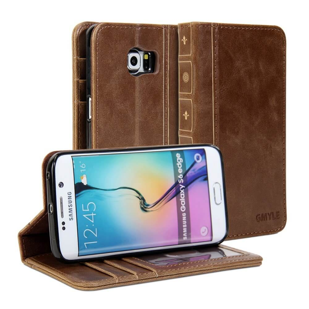 Gmyle Book Case Vintage for Samsung Galaxy S6 Edge