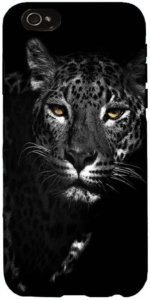 Snoogg Black and white leopard Designer Protective Back Case Cover