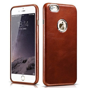 iCarer Vintage Series back cover genuine leather