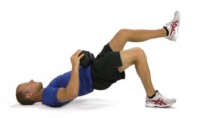 Photos Bridge Exercise with Knee Lift