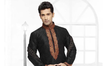 Pictures of Black Kurta Pajama