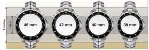 Watch Diameter Guide Pictures