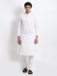 White Kurta Pajama Photo