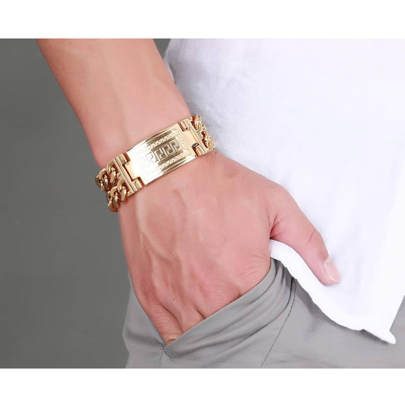 Gold Id Bracelet for Men