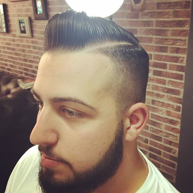 Pomade Hairstyles fade hairstyle back pomade Mens Side Parted Hairstyle Has Been Immensely Trendy Through The Ages Here Are Suggestions Of On How To Part Your Hair In A Proper Way So That You Get A