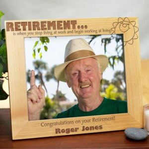 Retirement Picture Frame