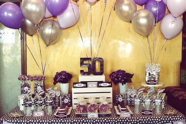 Return Gift Ideas For 50th Birthday